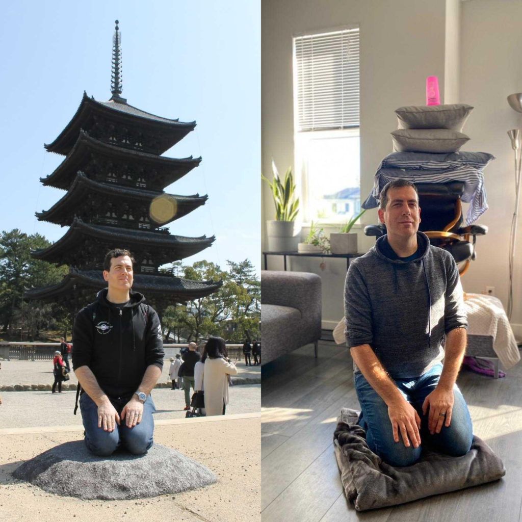 Then vs. Now (2020) travel photo from Loopicon participant, Ben Klein.